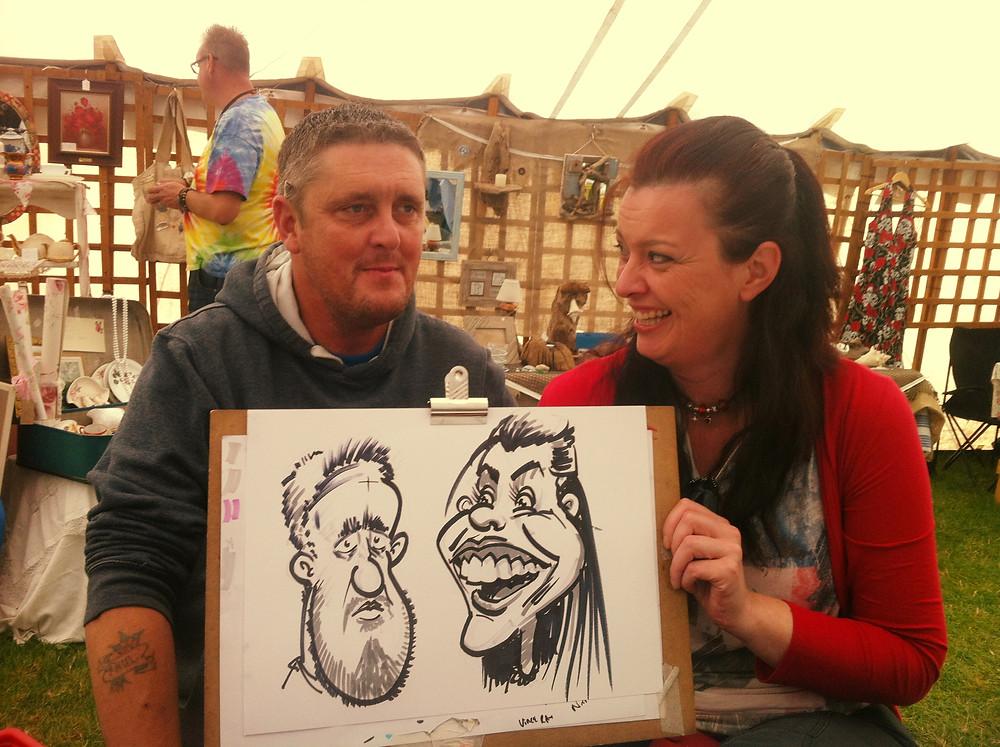 Peterlee event caricature