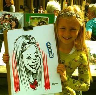 Monday in Durham drawing caricatures