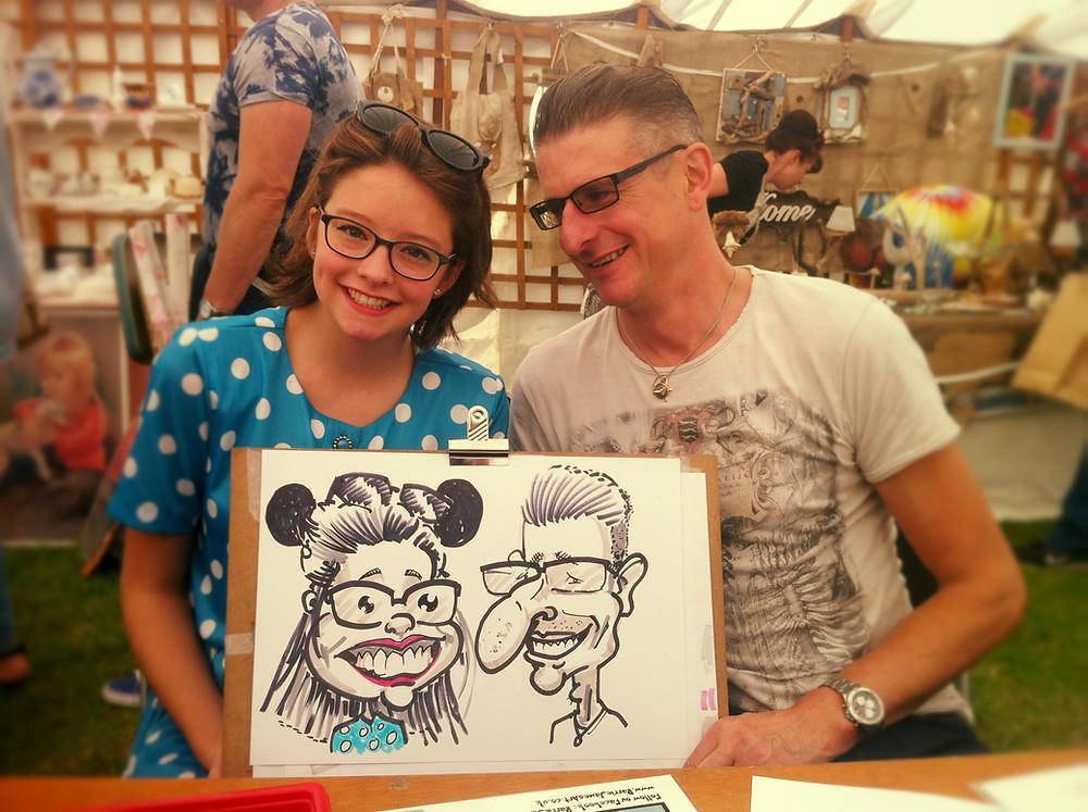 Peterlee festival caricature