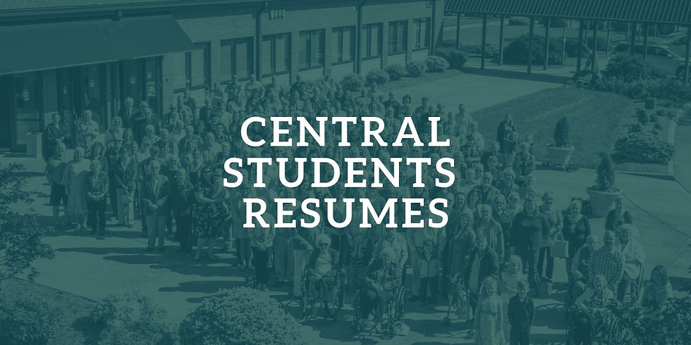 Central Students  - Resumes Fall Schedule