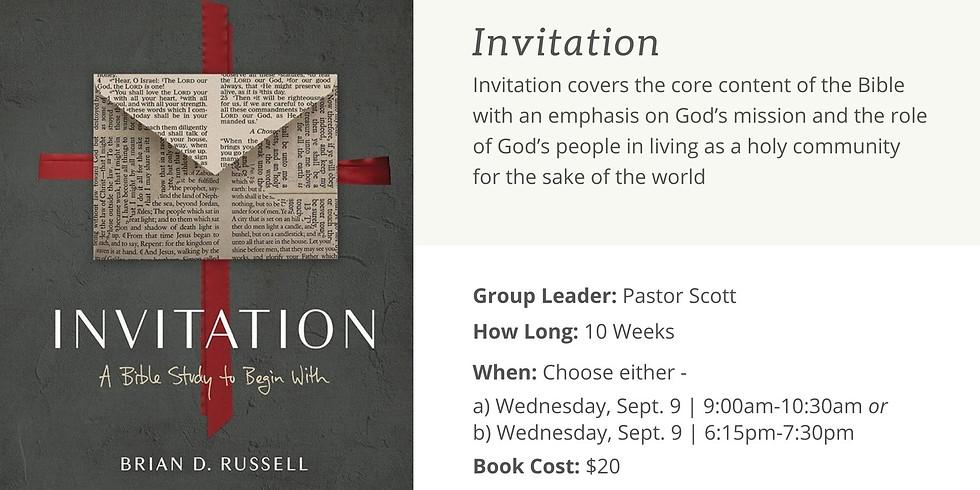 Small Group - Invitation (6:15pm)