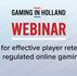 Webinar report | Keys for effective player retention in regulated online gaming