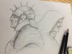 marker & pencil ' knight & wizard '