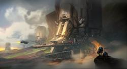sci fi base concept process