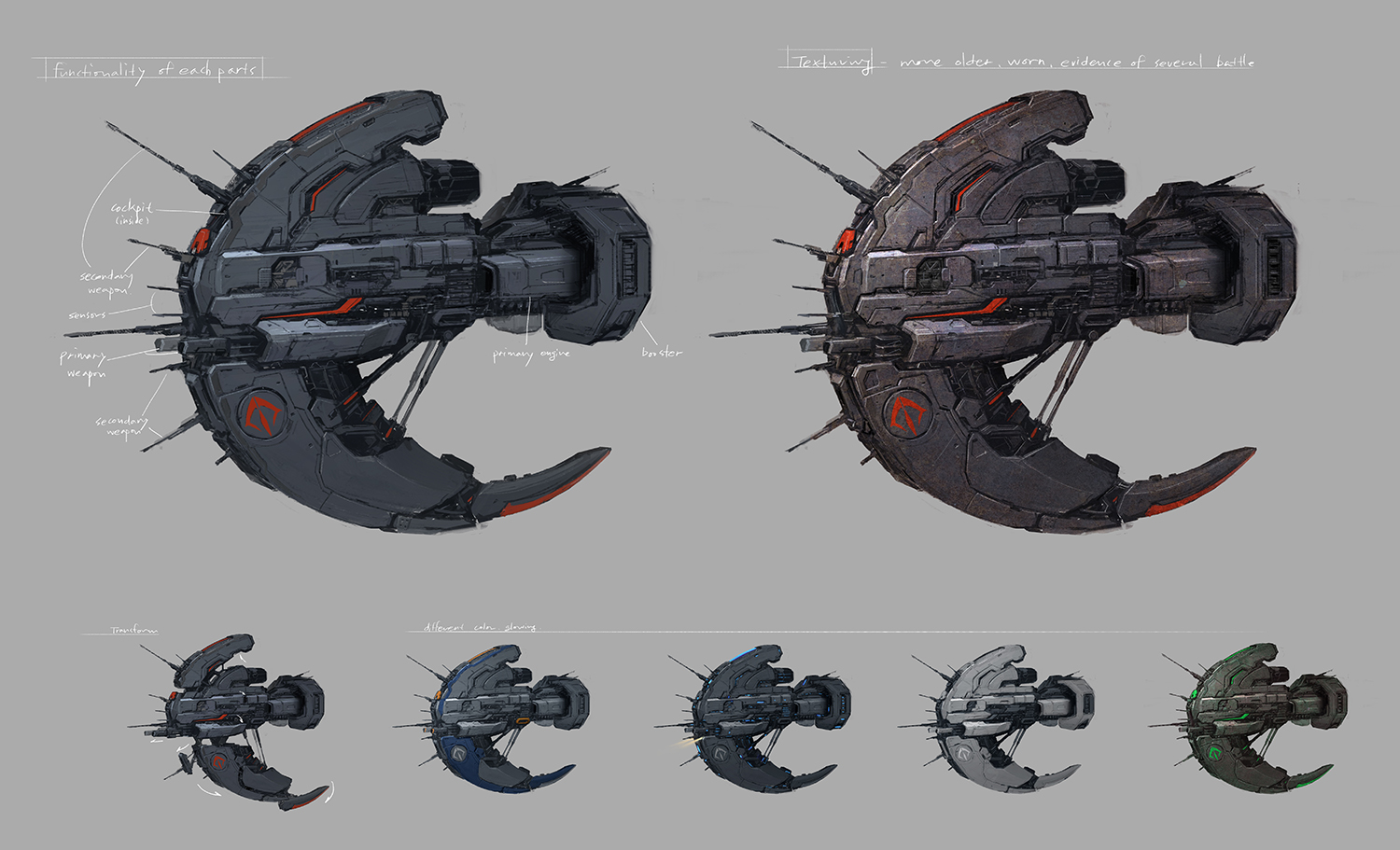 space ship concept art