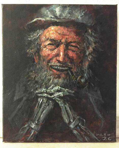 acrylic - old man