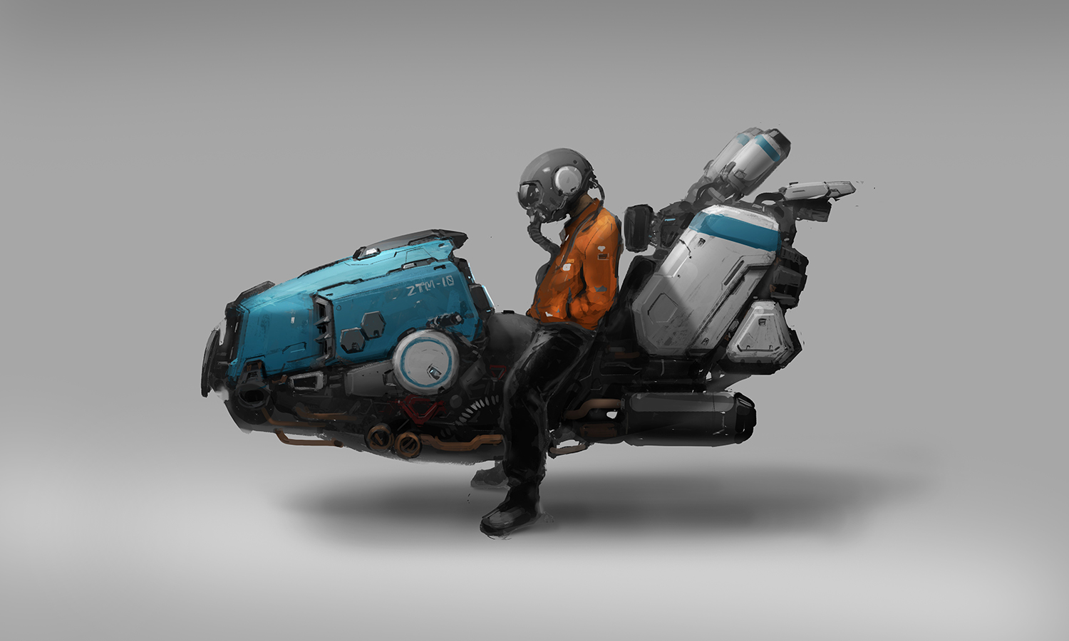 speeder concept art process