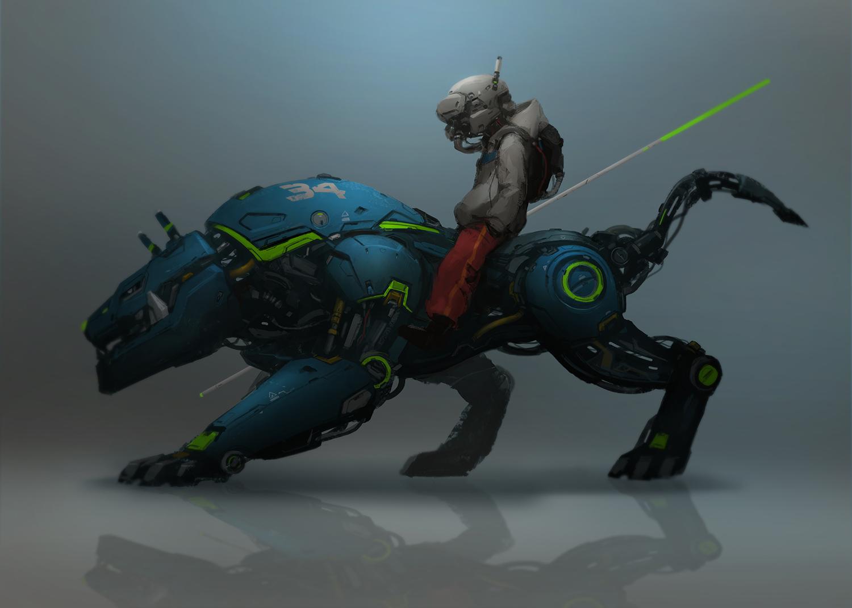 sci fi beast concept process
