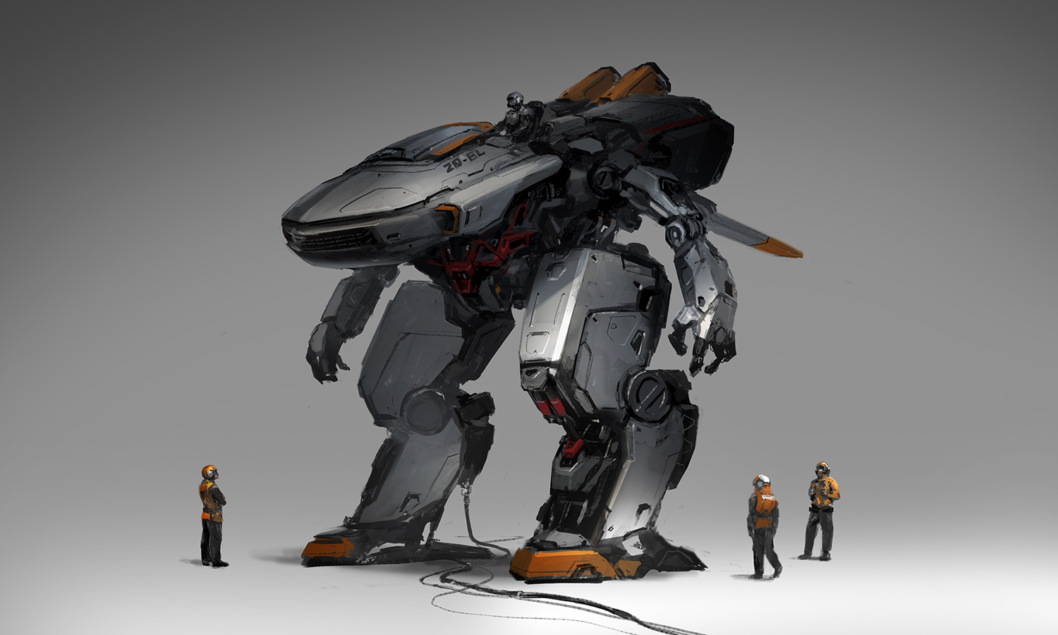 robot concept art process