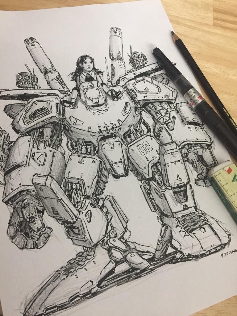 pencil & brush ' Friend '