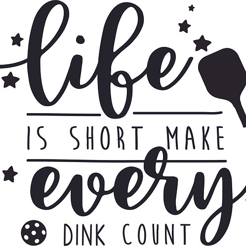 DIY Life is Short Make Every Dink Count in Classic Vinyl
