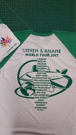 Personalized Tour shirts!