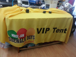 Table cloths for tradeshows