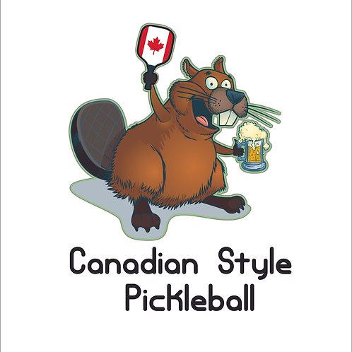 Beaver pickleball - beer mug