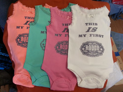 First Rodeo Onesies