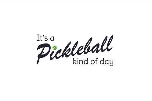 DIY It's a Pickleball Kinda Day in Classic Vinyl