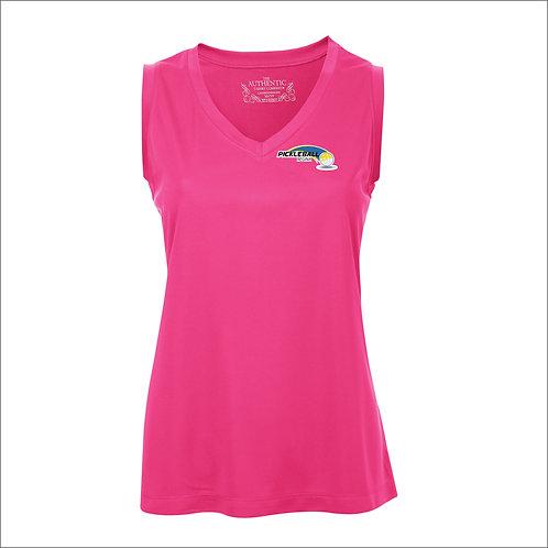 Pickleball Regina Inc. - Ladies V-Neck Moisture Wicking sleeveless shirt
