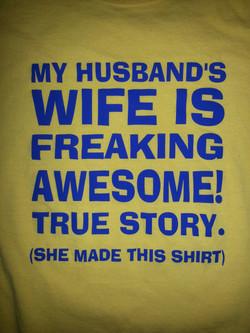 Husband's wife!