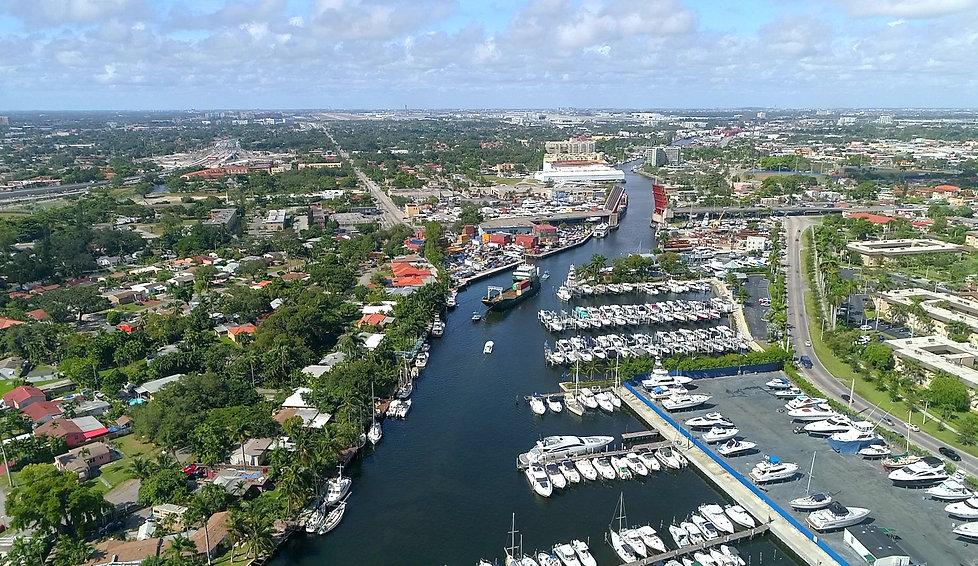 Aerial Footage of the Miami River