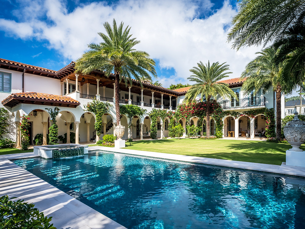 Eclectic Mediterranean Mansion in Palm Beach renovation by Woolens INC
