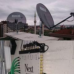 Merkezi uydu yayin sistemi montaji._Kapr