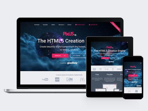 Pixi JS Responsive Site