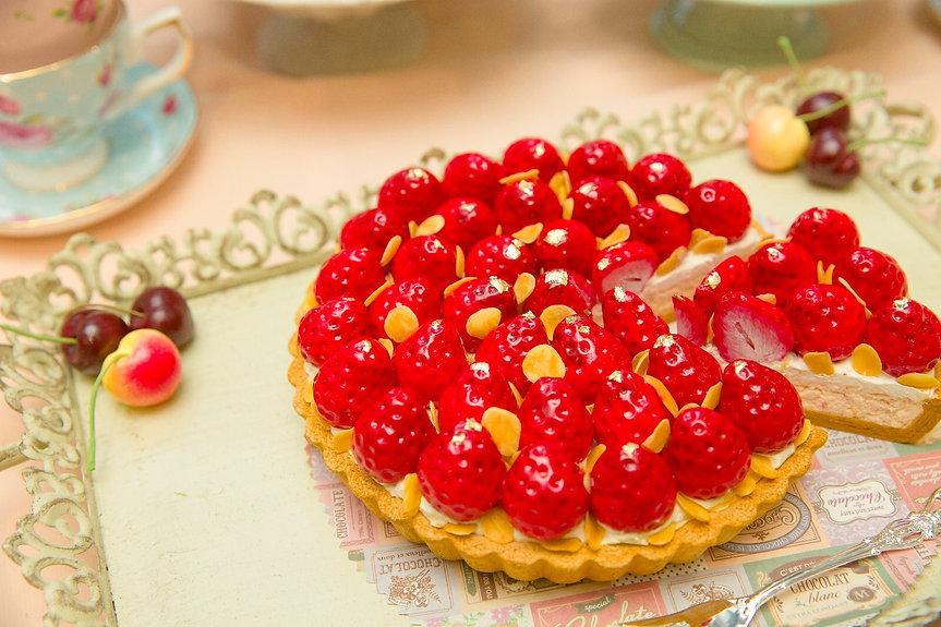 櫻桃草莓果批 士多啤梨車厘子 生果撻 下午茶 afternoon tea cherry strawberry pie almond 仿真甜品黏土作品 fake dessert claycraft