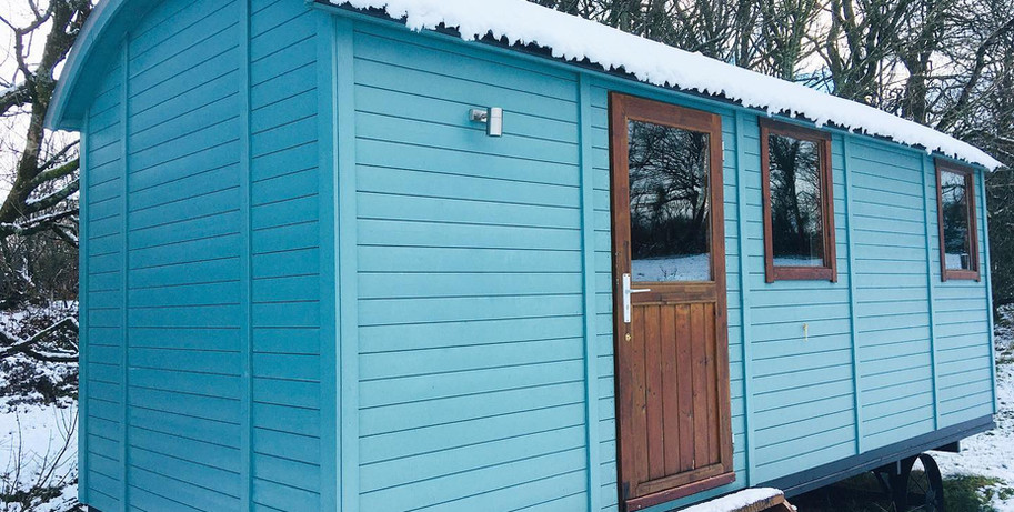 Sheppards Hut in Snow