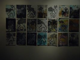 installation Porteurs de Mots, galerie Theodoro Braga, photo Joao Paulo do Amaral (art in the shadows)