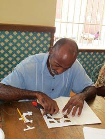 Atelier livre sculpture, tous publics alliance française du Cap Haïtien, Haïti, octobre2013