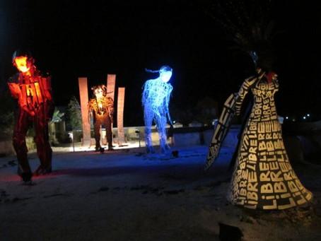 Hervé Beuze, installation Blo, île de la Gorée, résidence Dapper, 2012