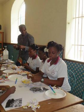 Atelier livre sculpture, Alliance française de Cap Haïtien, Haïti, octobre 2013