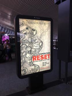 affiche aéroport Aimé Cesaire