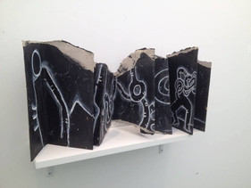 Livre sculpture | salon international du livre de Martinique | décembre 2013 | photo courtoisie de l'artiste