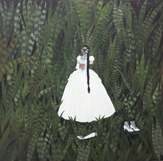 Kelly Sinnapah Mary,  Note book of non-return, peinture, 2018. Photo  Kelly Sinnapah Mary