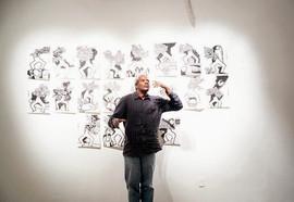 Performance vocale Ces'Aires , exposition Porteurs de Mots, Galerie Theodoro Braga, Belém, avril 2013 . Photo Bruno Pellerin