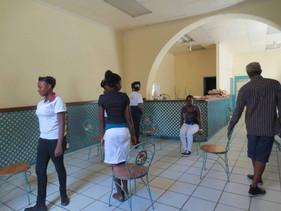 Atelier performance, scolaires à l'alliance française de Cap Haïtien Haïti, octobre 2013