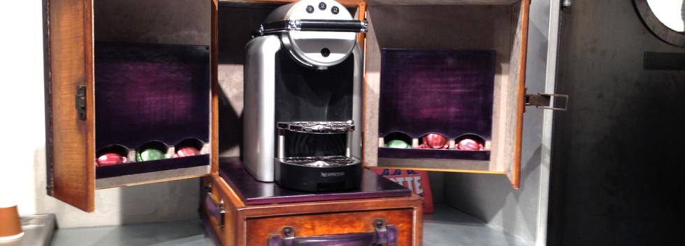 malle pour machine à café