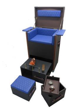 Malle salon de cirage 950 MM  ouverte 03