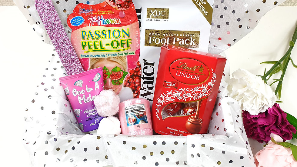 Selected choice mini pamper gift box
