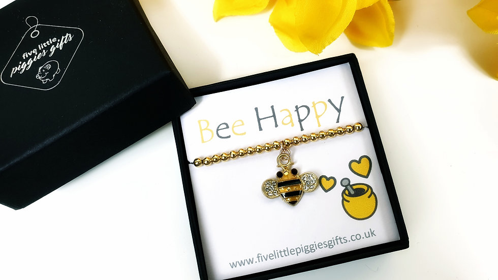 Bee Happy gift bracelet