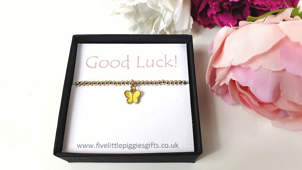 Good luck gift bracelet - butterfly
