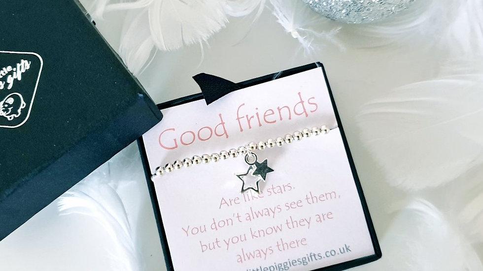 Friends are like stars gift bracelet