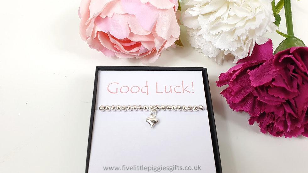 Good luck gift bracelet - heart