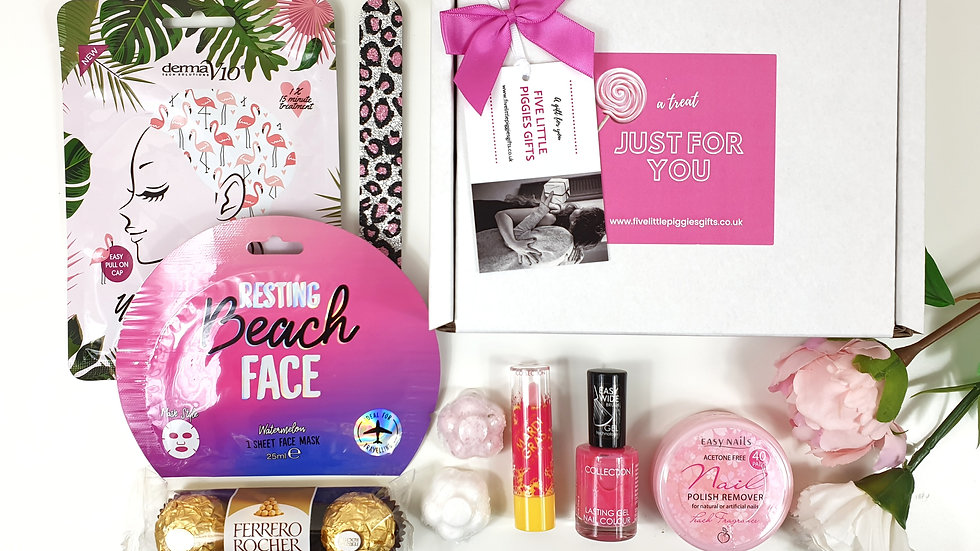 Fun mini pamper gift box