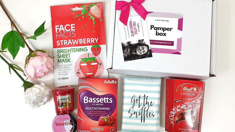 Get well soon pamper gift box