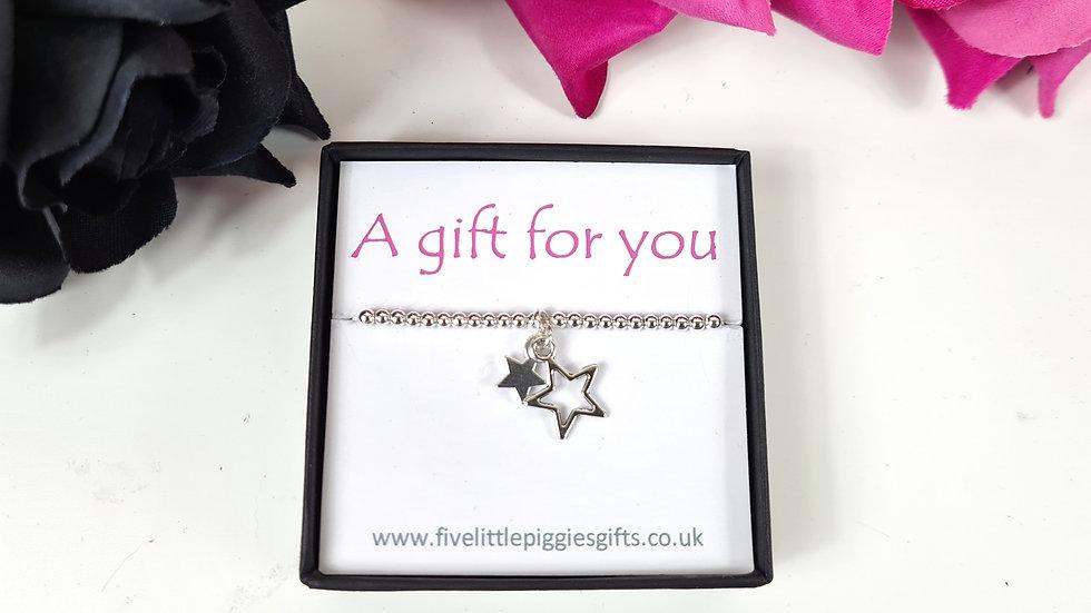 Double star gift bracelet