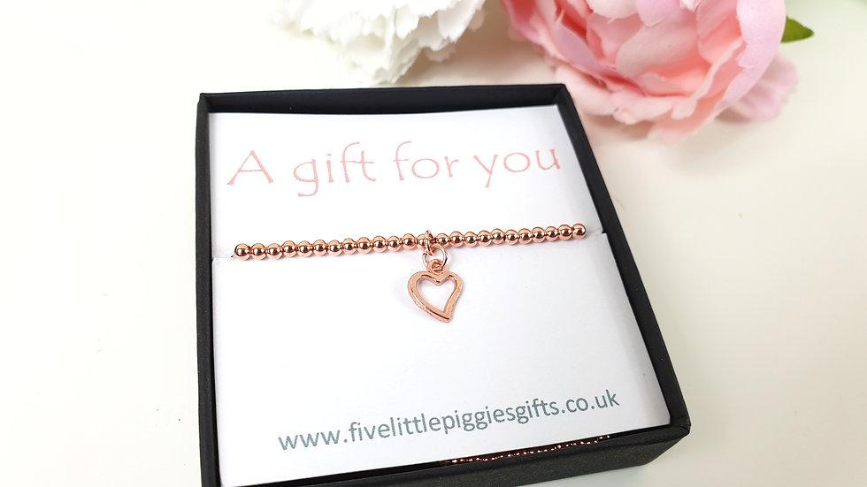 Rose heart gift bracelet