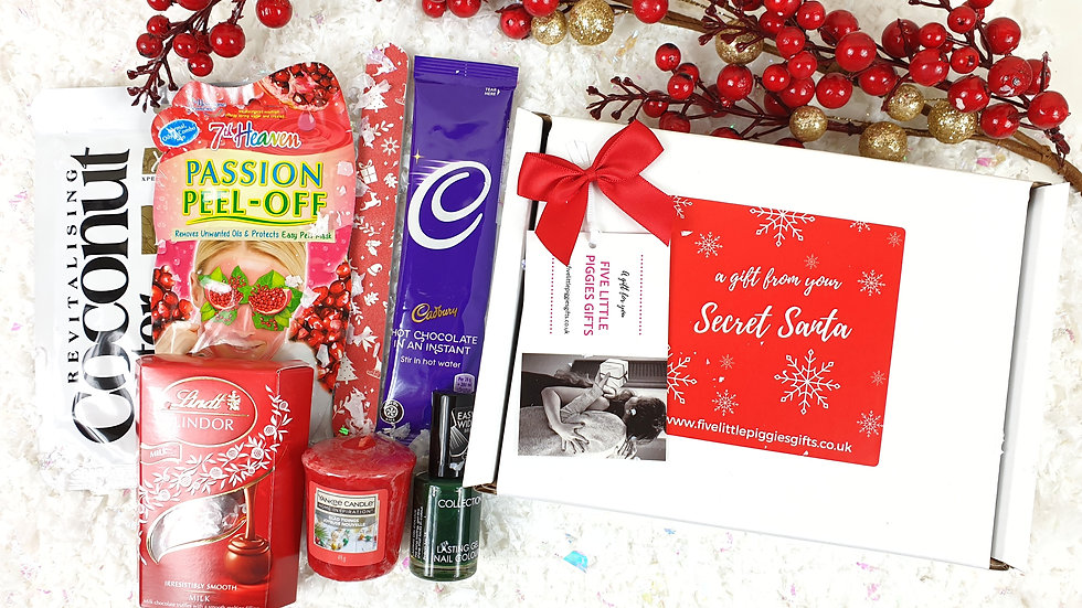 Secret Santa pamper gift box
