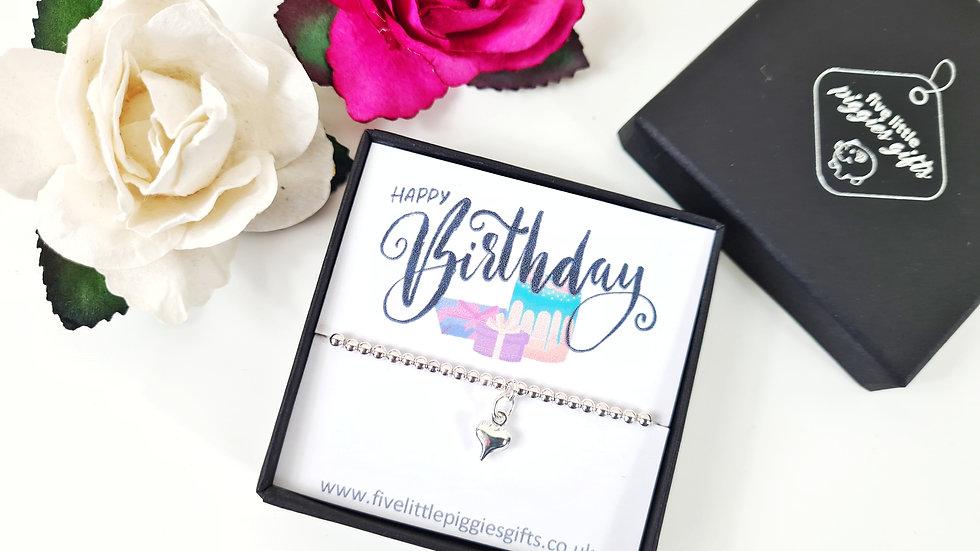 Happy Birthday gift bracelet